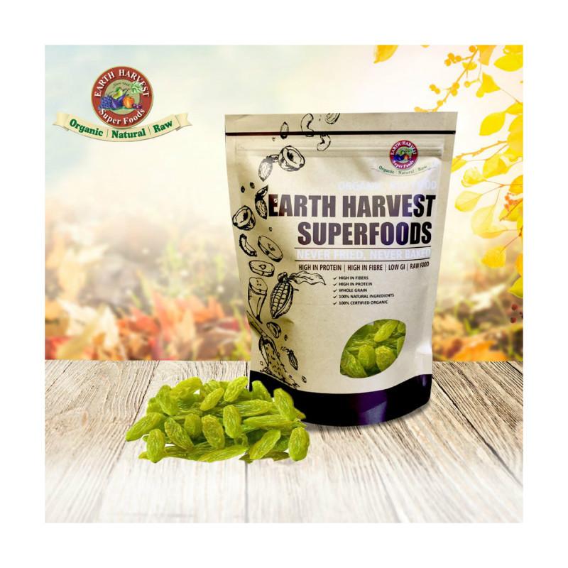 鲜机Earth Harvest Superfoods有机青提子干(无麸质) 200g
