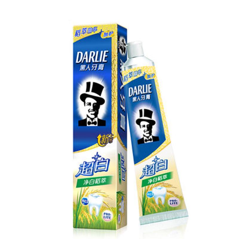DARLIE黑人全亮白牙膏净白稻萃140g*3