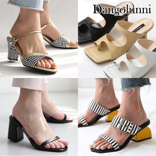 Dangolunni /女士/穆勒鞋/拖鞋/坡跟/厚底鞋/凉鞋/高跟鞋/乐福半拖鞋