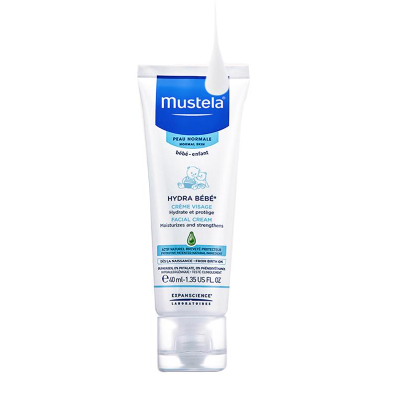 Mustela妙思乐滋润保湿面霜40ml法国进口婴儿童宝宝润肤护肤乳霜