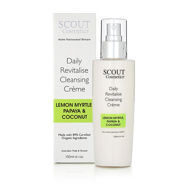 澳大利亚SCOUT Cosmetics活力洁面霜 (含柠檬默特尔、木瓜、椰子) 150mL