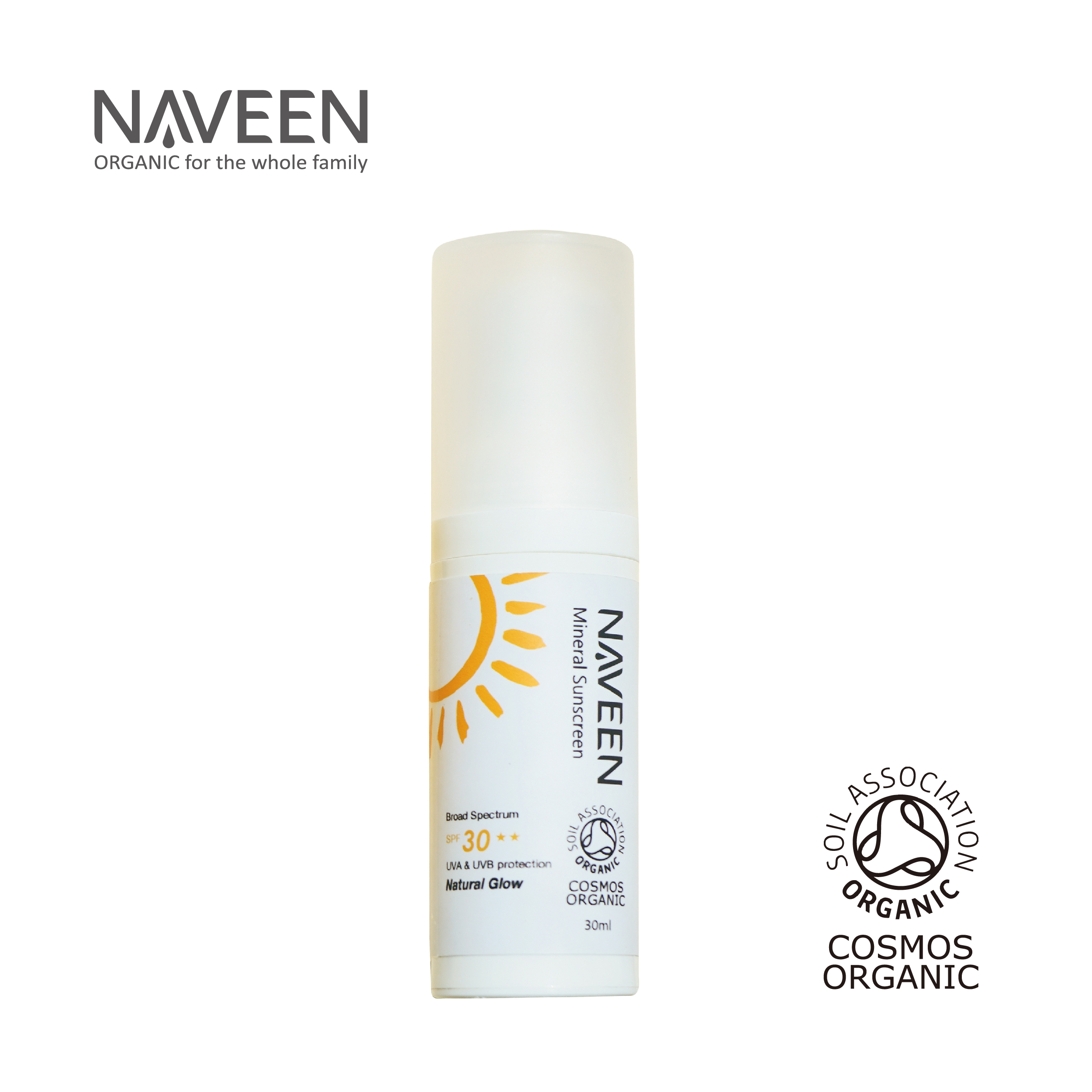 Naveen 清亮物理防晒乳(白色) 30ml