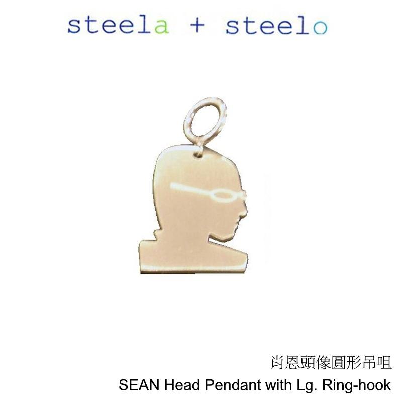 s+s steela + steelo 316L精钢 25mm x25mm 肖恩头像圆形吊坠